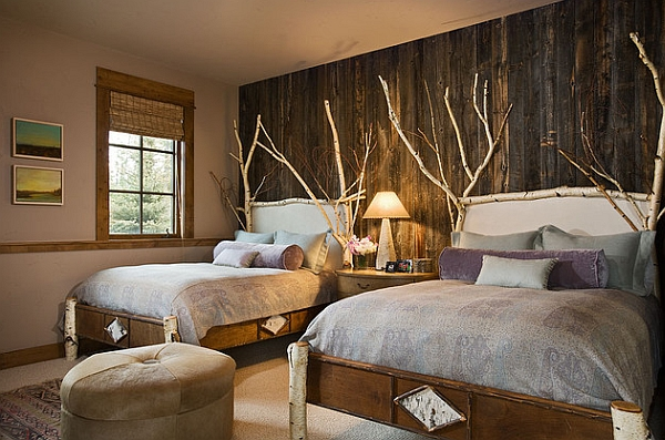 View In Gallery Rustic Bedroom Idea With Wooden Accent Wall