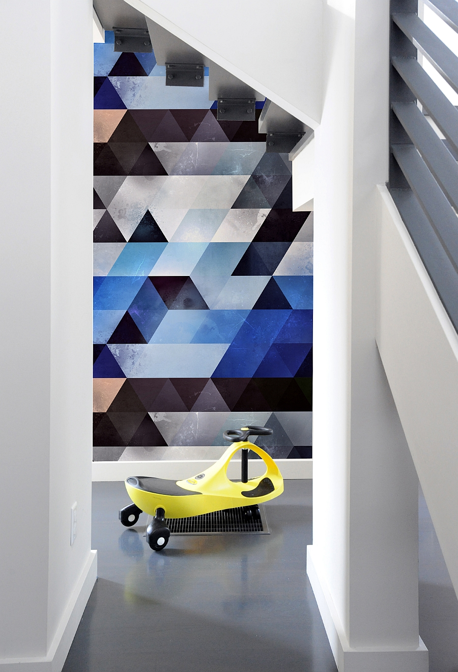 Create A Captivating Accent Wall With GeometricPatterned Wall Tiles