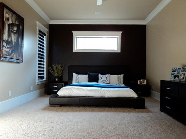 dark bedroom wall idea Bedroom Accent Walls to Keep Boredom Away
