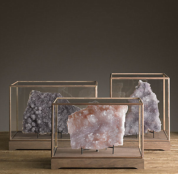 decorating with rocks and minerals