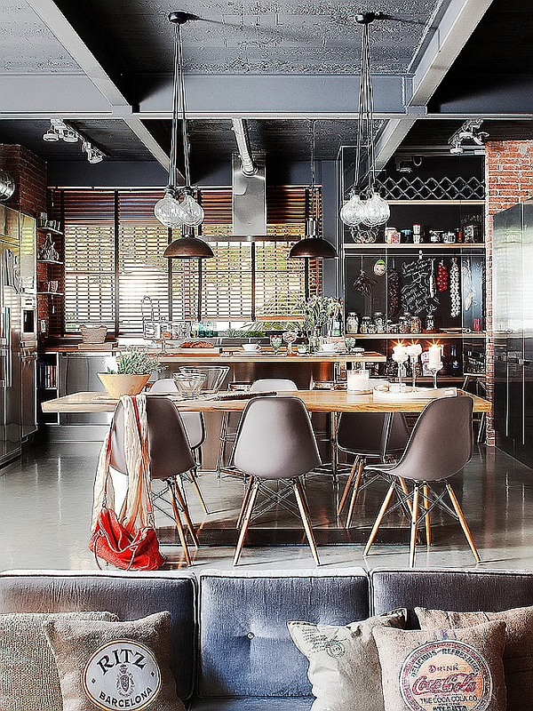 images interior design ideas living room layout pictures exclusive industrial loft in barcelona invites nature indoors!