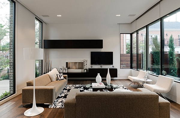 modern minimalist living room interior design for apartment rooms 50 ideas a stunning home in pristine white by lignum elite view gallery smart combination of decor with floating black shelves
