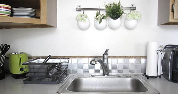 easy kitchen remodel high flow rate faucets 12 diy projects that make a statement with contact paper