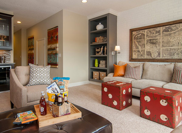 Dice Cube Furnishings And Game Rooms For A FunFilled Home