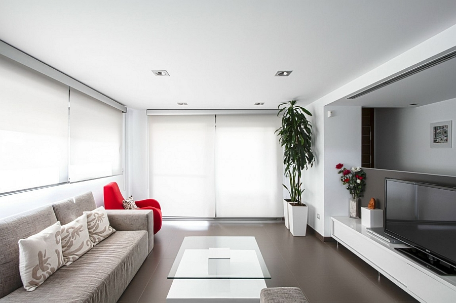 white couch living room ideas guest bed classy spanish home enlivens an urbane interior with smart ...