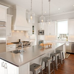 Stainless Steel Kitchen Cherrybrook How To Clean For A Sparkling View In Gallery Elegant White With Modern Island