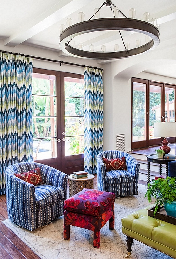 chevron living room curtains layout ideas with tv and fireplace pattern for rooms rugs drapes accent pillows view in gallery give your some spring freshness