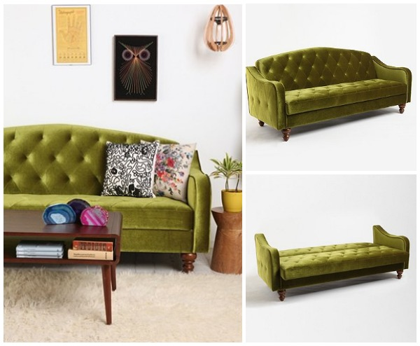 urban sofa gallery click small and stylish sleeper sofas view in green