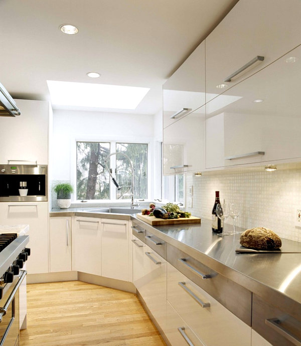white kitchen countertops chef appliances 15 kitchens with stainless steel view in gallery modern