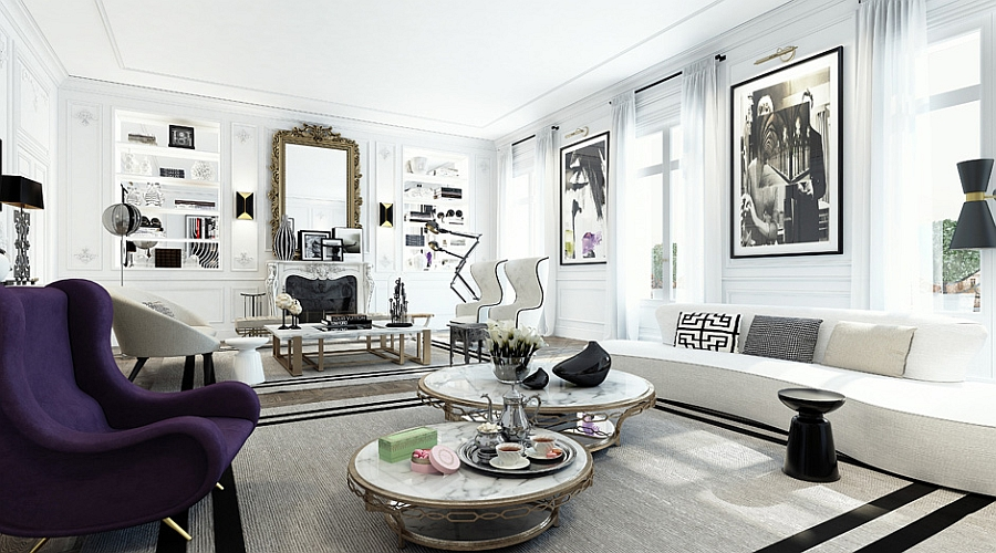Glamorous Apartment In Paris Dazzles With Extravagance