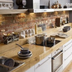 Brick Backsplash In Kitchen Cabinet Pulls Backsplashes Rustic And Full Of Charm View Gallery 2