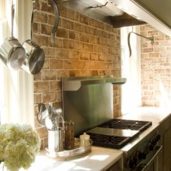 Brick Backsplash In Kitchen Epoxy Floor Backsplashes Rustic And Full Of Charm View Gallery