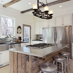 Stainless Kitchen Table With Storage Underneath How To Clean Steel For A Sparkling Surfaces In Rustic Style