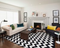 Chevron Pattern Ideas For Living Rooms: Rugs, Drapes and ...