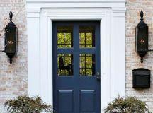 navy blue front door - Decoist