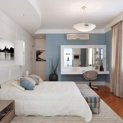 All White Living Room Ideas Corner Wall Shelves Blue And Interiors: Rooms, Kitchens, Bedrooms ...