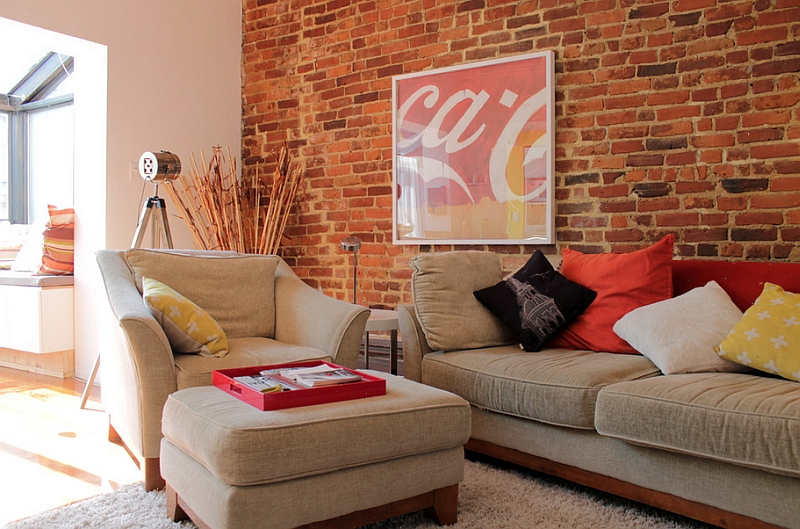 transitional living room furniture glass coca-cola decor: vintage posters, coke machines and diy ideas