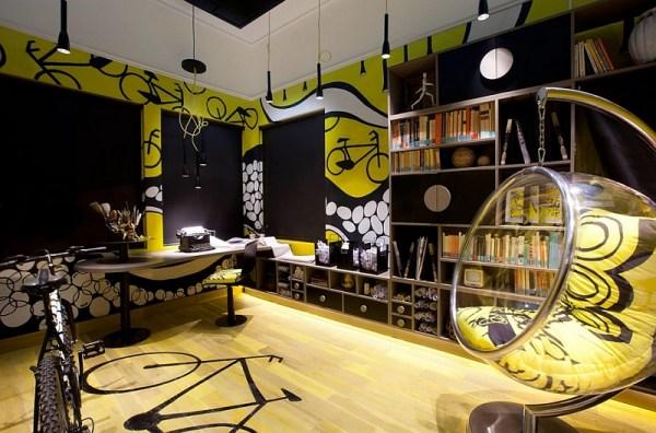 fun office design ideas Creative Bike Storage & Display Ideas for Small Spaces