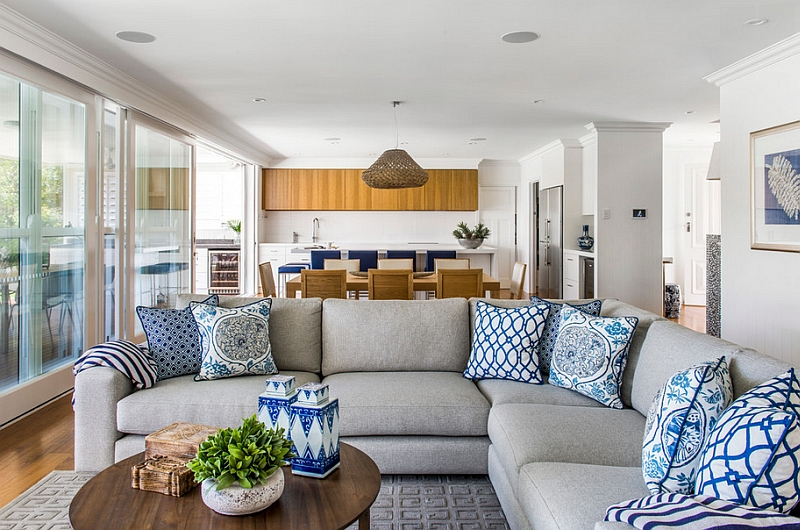 Blue And White Interiors Living Rooms Kitchens Bedroomore Part 39