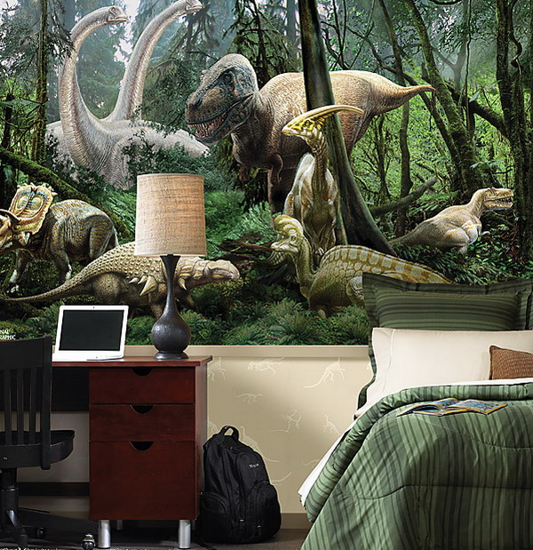 View In Gallery Dinosaur Wall Additions Add A Whole Enw Dimension To The Kids Room