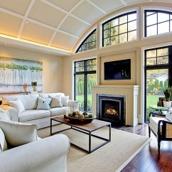 Living Room Fireplace Tv Ideas Kid Friendly Above Design View In Gallery Ambient Lighting Plays A Major Role The With