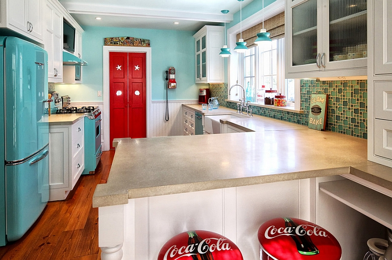american classics kitchen cabinets cabinet manufacturers list coca-cola decor: vintage posters, coke machines and diy ideas