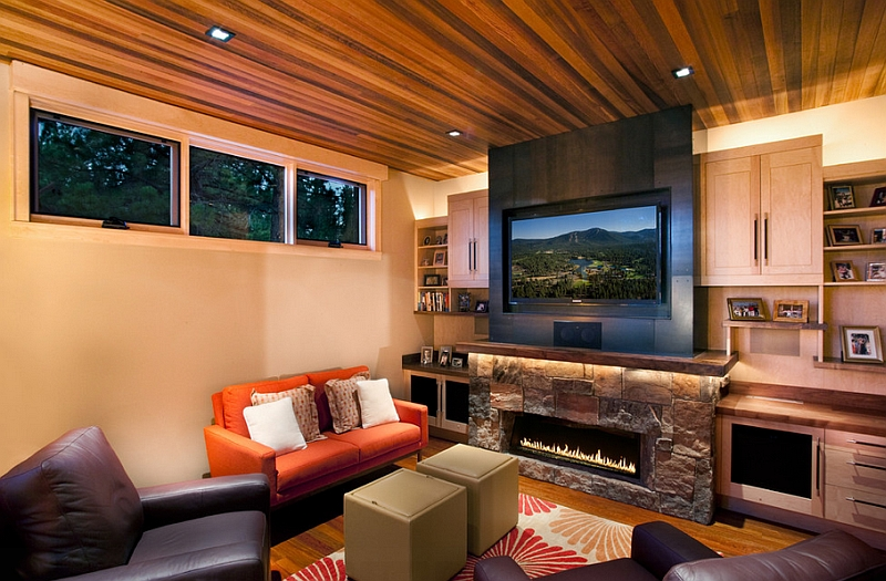 living room design ideas tv over fireplace modern indian interior above view in gallery contemporary family makes best possible use of space with the