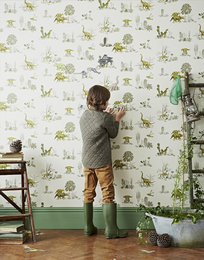 Kids Bedrooms With Dinosaur Themed Wall Art And Murals. Science Wallpaper Bedroom   Bedroom Style Ideas