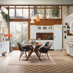 Glass Backsplashes For Kitchens Oversized Kitchen Sinks Vintage Offers A Refreshing Modern Take On Fifties ...