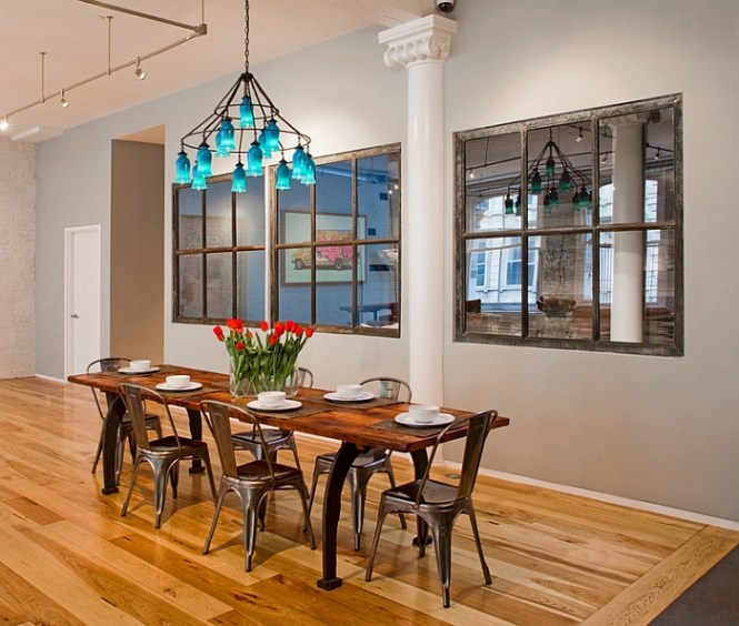 View In Gallery Style Dining Room With A Colorful Chandelier