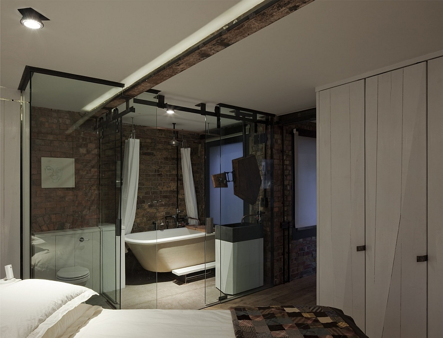 small kitchen lighting ideas houzz exposed brick walls meet sustainable modern design in ...