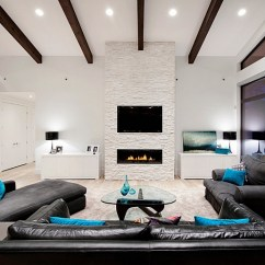 Living Room Ideas With Tv And Fireplace Wall Units Images Above Design View In Gallery Make The Focal Point Of
