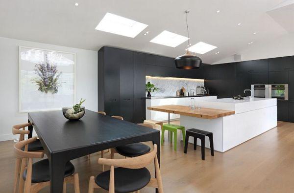 black and white wood kitchen design ideas Black And White Kitchens: Ideas, Photos, Inspirations