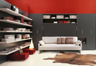 Transformable Murphy Bed Over Sofa Systems That Save Up