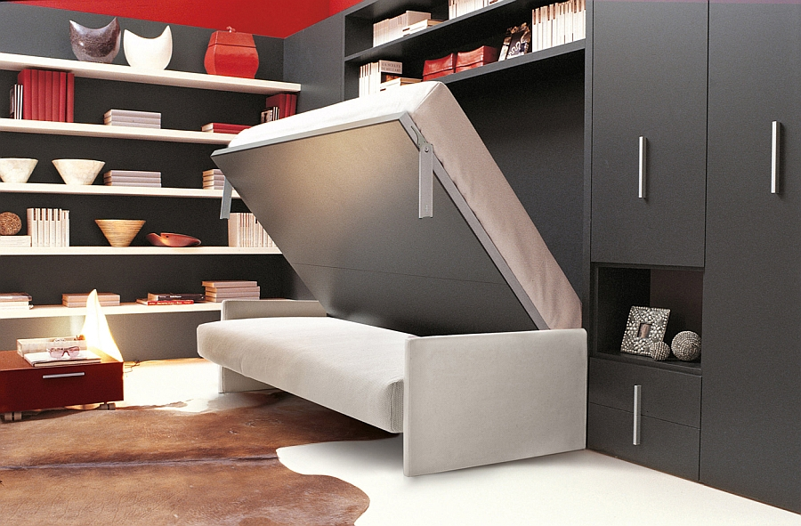 diy murphy bed over sofa reclining sofas orange county ca unit with horizontally folding double ...