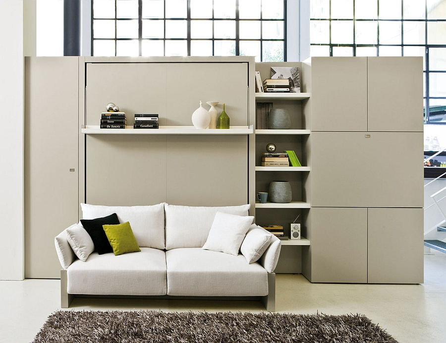Transformable Murphy Bed Over Sofa Systems That Save Up On