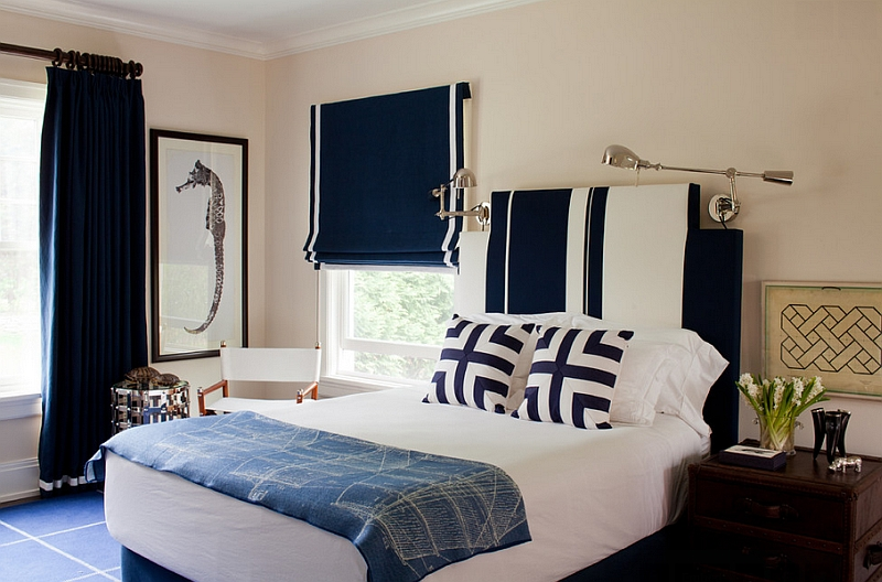 living room color schemes with navy blue top colour for and white interiors rooms kitchens bedrooms more view in gallery is a classic combination the boys bedroom that never goes