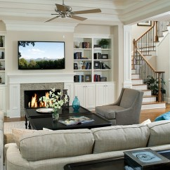 How To Design Living Room With Fireplace And Tv No Area Rug In Small Above Ideas View Gallery Pops Of Turquoise Enliven The Traditional