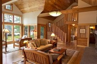 Cozy Cabin Retreat Combines Warmth Of Wood With A Bright ...