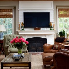 How To Decorate Living Room With Tv Over Fireplace Shelves For Decorations Above Design Ideas By Andrea Braund Home Staging View In Gallery A Blend Of The Traditional And Modern
