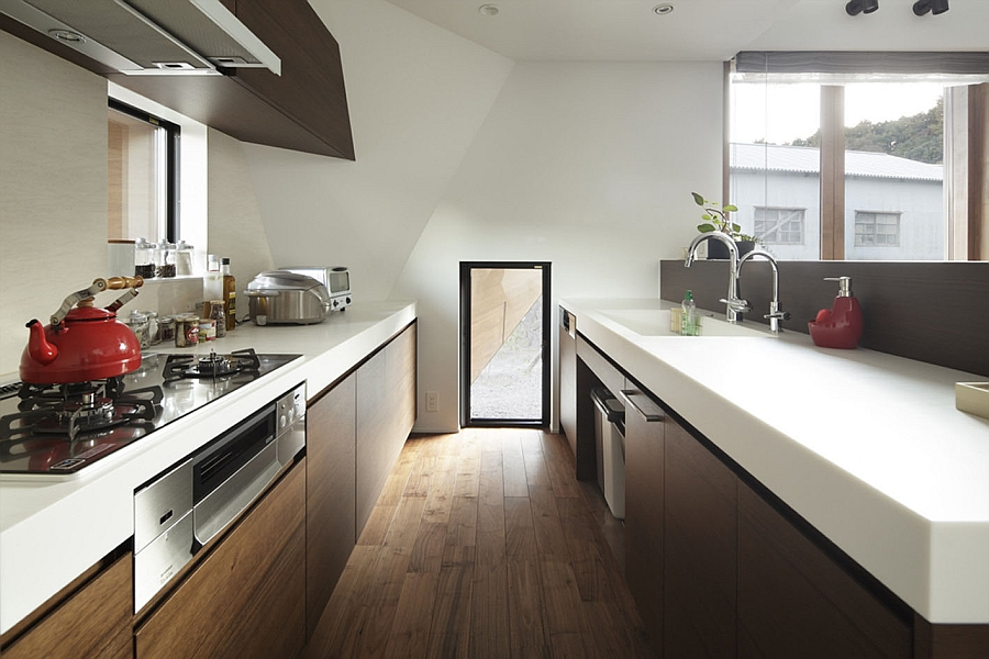 pics of kitchen cabinets refinishing white creative origami house in japan combines a distinct ...