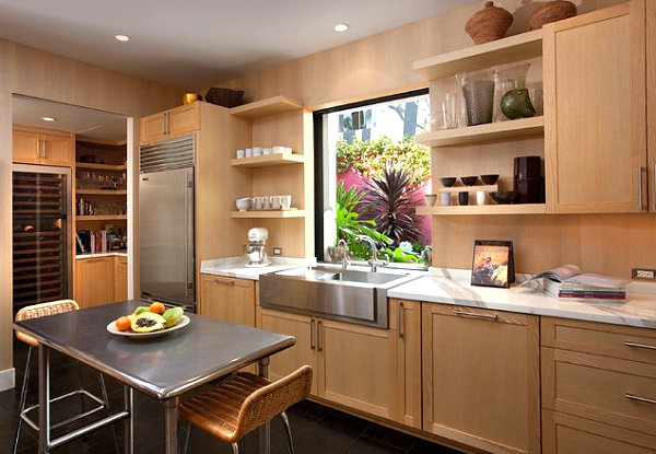 greenery above kitchen cabinets real wood stainless steel islands: ideas and inspirations