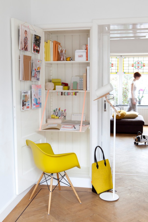 closet folding desk  Decoist