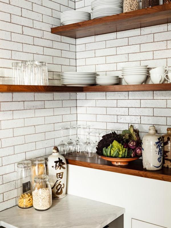kitchen corner shelves cabinet moulding space saving design ideas view in gallery industrial shelf
