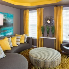 Grey Yellow Living Room Furniture Sectional Sofa With Chaise Gray And Rooms Photos Ideas Inspirations View In Gallery A Perfect Way To Combine Balanced Fashion