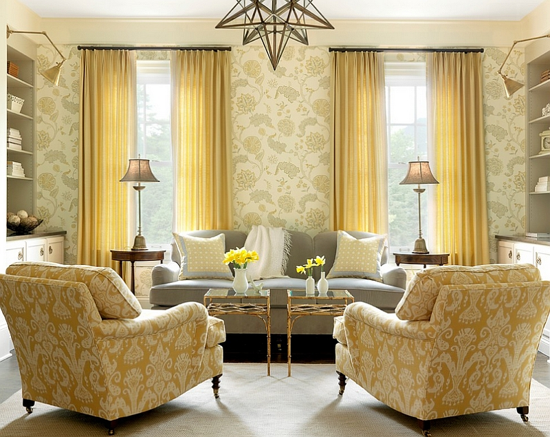 gray white and yellow living room ideas crown molding for rooms photos inspirations view in gallery a stylish where takes over from