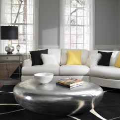 Gray White And Yellow Living Room Ideas Decorate With Fireplace Rooms Photos Inspirations View In Gallery Amazing Coffee Table Black Decor Accentuate The Touches