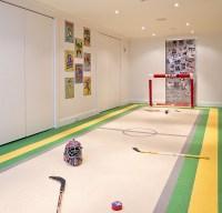 Basement playroom for an ice hockey fan - Decoist
