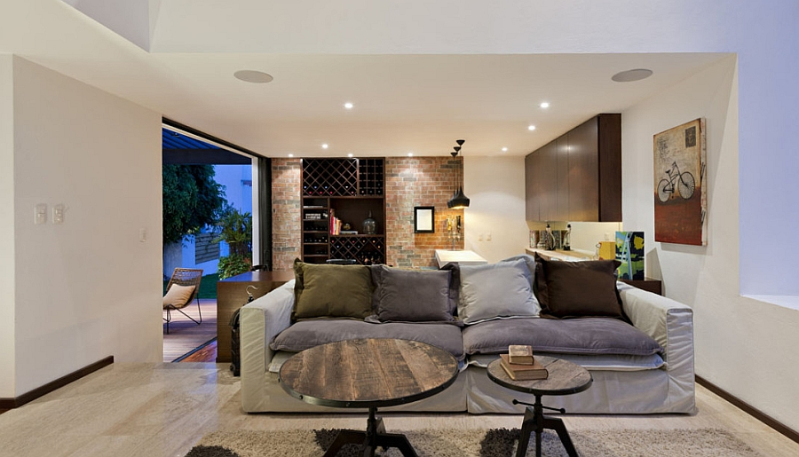 warm inviting living room ideas picture of a trendy home extension in mexico dazzles with ...