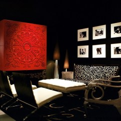 Black And Red Living Room White Sectional Interiors Rooms Kitchens Bedrooms View In Gallery Used A Dramatic Bold Fashion The
